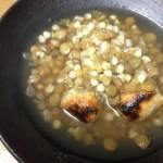 レンズ豆と蕎麦の実の玄米汁粉♪