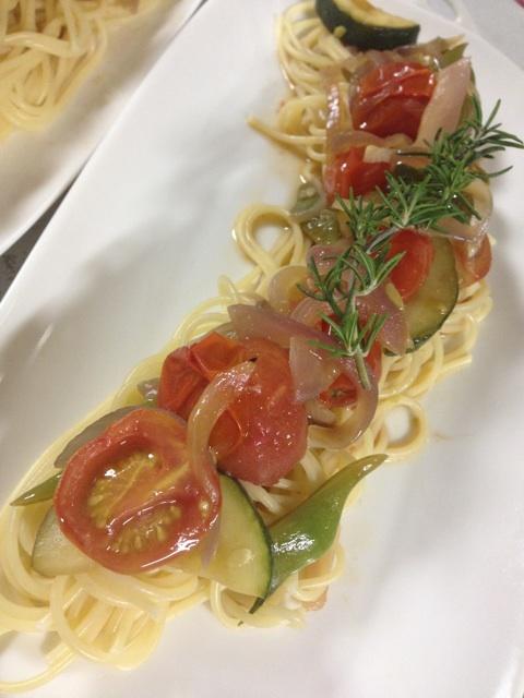 夏野菜のスパゲティー ローズマリー風味♪