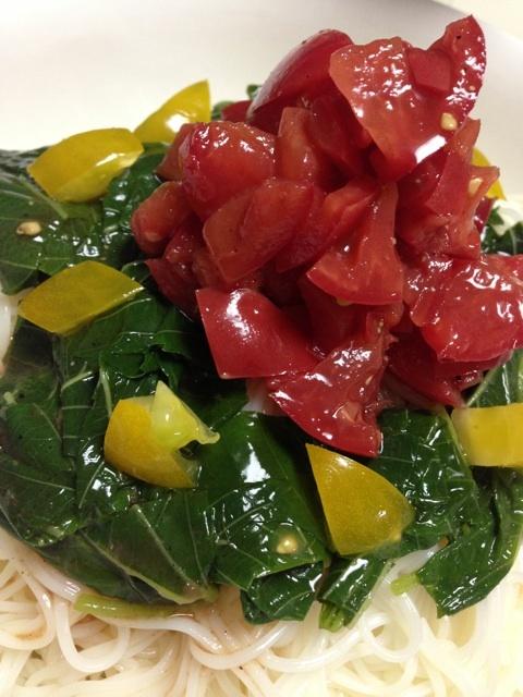 夏野菜の素麺~バルサミコだれ~