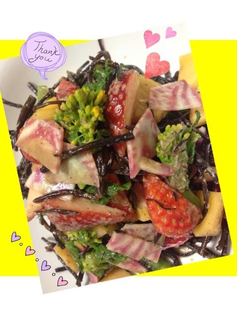 春野菜と果物たっぷりサラダ♡